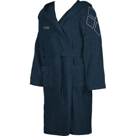 arena Zodiaco Bathrobe Juniors navy-metallic silver